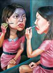 แต่งหน้า, Make-up, Anon  Lulitananda, 2012, Oil on canvas, 200x145cm