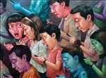 สังคมแบบพกพา, Online Society, Anon  Lulitananda, 2012, Oil on canvas, 145x195cm