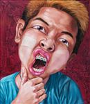 เด็กสแกน, Scan boy, Anon  Lulitananda, 2012, Oil on canvas, 150x130cm